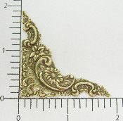 "(Package Of 12) 1-7/8"" Victorian Corner (BRASS OX)"