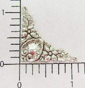 "(Package Of 12) 1-1/8"" Victorian Floral Corner (MATTE SILVER"