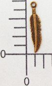 (Package Of 12) Tiny Feather Charm (COPPER OX)