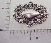(Package Of 12) Victorian Ornament Tag (Matte Silver Ox)