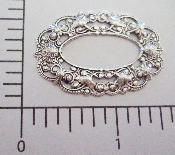(Package Of 12) Ornate Oval Filigree Frame (Matte Silver Ox)