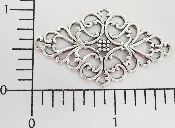 (Package Of 12) Diamond Shaped Swirl Filigree (Matte Silver