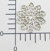 "(Package Of 12) 3/4"" Round Filigree (Matte Silver Ox)"