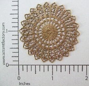 "(Package Of 12)Round Lacy Circle Filigree 1-3/4""(Brass Ox)"