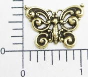 "(Package Of 12) 1"" Victorian Butterfly - N/R (Brass Ox)"