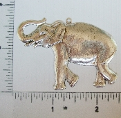 (Package Of 12) Large Elephant Pendant (Matte Silver Ox)