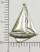 "(Package Of 12) 2"" Large Sailboat N/R (Matte Silver Ox)"