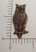 (Package Of 12) Large Owl  (Brass Ox)