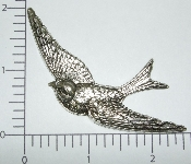 (Package Of 12) Large Flying Bird (Matte Silver Ox)