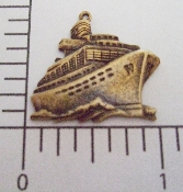 (Package Of 12) Cruise Ship Charm  (Brass Ox)