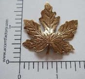 (Package Of 12) Large Maple Leaf (Brass Ox)