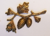 (Package Of 12) Large Pine Cone Spray (Brass Ox)
