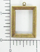 (Package Of 12) 7/8 X 1 1/4 Plain Frame Charm (Brass Ox)