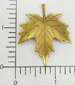 "(Package Of 12) 1-1/2""  Flat Maple Leaf (Brass Ox)"
