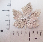 (Package Of 12) Large Maple Leaf (Matte Silver Ox)