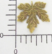 "(Package Of 12) 3/4""  Maple Leaf NR (Brass Ox)"