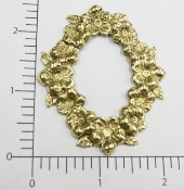 (Package Of 12) Oval Victorian Flowers Frame (Brass Ox)