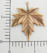 "(Package Of 12) 1-1/2""  Flat Maple Leaf (Copper Ox)"