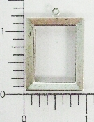 (Package Of 12) 7/8 X 1 1/4 Plain Frame Charm (Matte Silver