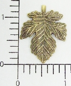 (Package Of 12) Large Leaf (Brass Ox)