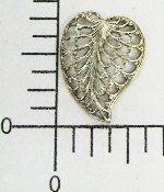 (Package Of 12) Filigree Leaf Facing L. (Matte Silver Ox)