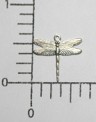 "(Package Of 12) 5/8"" Dragonfly Charm (Matte Silver Ox)"