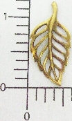 (Package Of 12) Simple Open Filigree Leaf (Brass Ox)