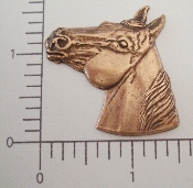 (Package Of 12) Lg. Quarter Horse Head (Copper Ox)