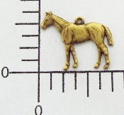 (Package Of 12) Sm Standing Horse Charm Fac L (Brass Ox)
