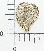 (Package Of 12) Filigree Leaf Facing L. (Brass Ox)