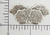 (Package Of 12) Floral Solid Angel Wings (Matte Silver Ox)