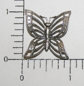 "(Package Of 12) 1"" Filigree Butterfly NR (Matte Silver Ox)"