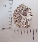 (Package Of 12) American Indian Charm (Matte Silver Ox)