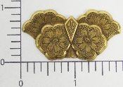 (Package Of 12) Floral Solid Angel Wings (Brass Ox)