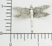 "(Package Of 12) 1-1/8"" Dragonfly Charm (Matte Silver Ox)"