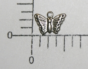 "(Package Of 12) 3/8"" Butterfly Charm (Matte Silver Ox)"