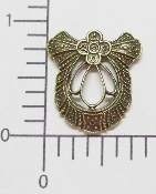(Package of 12) Victorian Filigree (Brass Ox)