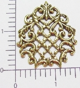 (Package Of 12) Mesh Weave Filigree Ornament (Brass Ox)