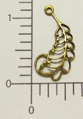 "(Package Of 12) 3/4"" Filigree Feather/Wing (Brass Ox)"