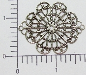 (Package Of 12) Lg. Diamond/Oval Filigree (Matte Silver Ox)