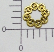 "(Package Of 12) 5/8"" Open Round Filigree (Brass Ox)"