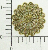"(Package Of 12) Round Filigree - 1-1/4"" (Brass Ox)"