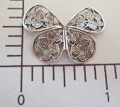 (Package Of 12) Butterfly Shaped Curl Filigree (Matte Silver