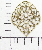 (Package Of 12) Lacy Petal Shaped Filigree (Brass Ox)