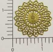 "(Package Of 12) 1-3/8"" Round Filigree (Brass Ox)"