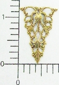 (Package Of 12) Triangular Decorative Filigree (Brass Ox)