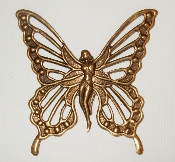 (Package of 12) Fairy Filigree Butterfly Wings (Brass Ox)