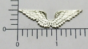 (Package of 12) Double Angel Wing (Matte Silver Ox)