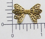 (Package of 12) Dapped Wing Shape Filigree (Brass Ox)