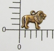 (Package of 12) Small Lion Charm (Copper Ox)